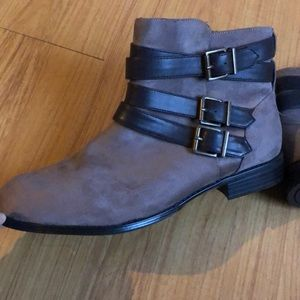 Brown Booties Size 10WW